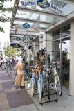 Велосипеда магазина Ванкувера улица ДО РОЖДЕСТВА ХРИСТОВА Стоковое Изображение RF
