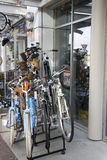 Велосипеда магазина Ванкувера улица ДО РОЖДЕСТВА ХРИСТОВА Стоковая Фотография