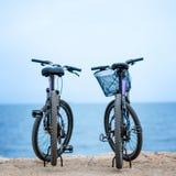 2 велосипеда на пристани Стоковое фото RF
