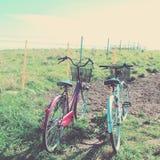 2 велосипеда с ретро влиянием Стоковое Изображение