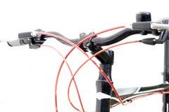 велосипед велосипед перспектива горы рук пущи фокуса поля глубины велосипедиста отмелая Стоковые Фотографии RF