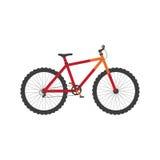 велосипед велосипед перспектива горы рук пущи фокуса поля глубины велосипедиста отмелая также вектор иллюстрации притяжки corel Стоковое Изображение RF