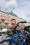 Велосипед в красивом Стокгольме Стоковая Фотография