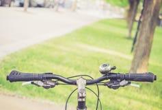 Велосипед в парке на солнечный день Стоковое Изображение