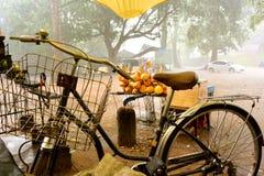 Велосипед в фронте на ненастной предпосылке Стоковые Фото