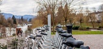 Велосипед города в Любляне Стоковое фото RF