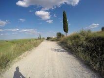Велосипед гравия вокруг Сиены стоковая фотография