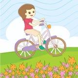 Велосипед езды лета Стоковая Фотография RF