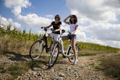 Велосипед женщины Стоковая Фотография RF