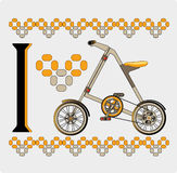 велосипед желтый цвет Стоковое Изображение RF