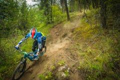 велосипед задействуя гора холма вверх Стоковые Фото