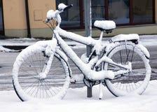 Велосипед зимы Стоковые Изображения