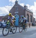 2 велосипедиста - Париж Roubaix 2016 Стоковое Изображение