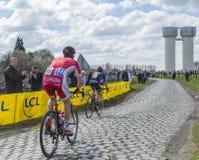 2 велосипедиста - Париж Roubaix 2016 Стоковое Фото