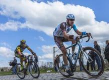 2 велосипедиста - Париж Roubaix 2016 Стоковое Изображение RF