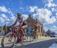 2 велосипедиста - Париж Roubaix 2016 Стоковые Фото