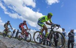3 велосипедиста - Париж Roubaix 2016 Стоковые Фото