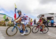 2 велосипедиста - путешествие de Франция 2015 Стоковое Фото