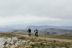 2 велосипедиста спортсменов Стоковое Изображение