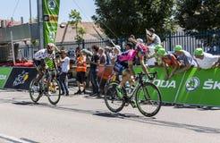 2 велосипедиста Breakaway - Тур-де-Франс 2015 Стоковая Фотография RF