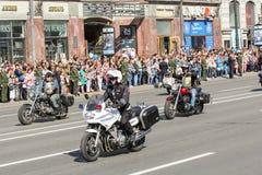 Велосипедисты и полиция Стоковое фото RF