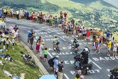 Велосипедисты на дороге Le Тур-де-Франс Стоковое Изображение RF