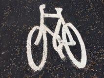 Велосипедисты на улицах Англии Стоковое Изображение