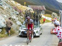 Велосипедист Альберто Losada Alguacil - Тур-де-Франс 2015 Стоковые Изображения