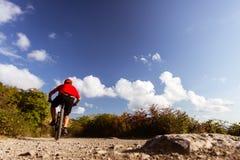 Велосипедист горы ехать MTB Стоковые Изображения RF