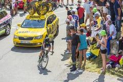 Велосипедист Джонатан Castroviejo Nicolas на Col du Glandon - Tou стоковое изображение