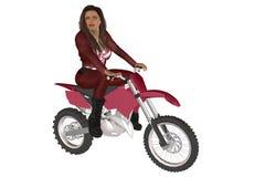 Велосипедист девушки Стоковое фото RF