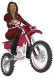 Велосипедист девушки Стоковое Изображение RF