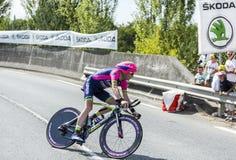 Велосипедист Крис Horner - Тур-де-Франс 2014 Стоковые Изображения
