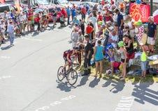 Велосипедист Майкл Schar на Col du Glandon - Тур-де-Франс 201 стоковые фотографии rf