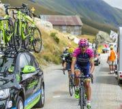 Велосипедист Рафаэль Valls Ferri - Тур-де-Франс 2015 Стоковое Изображение