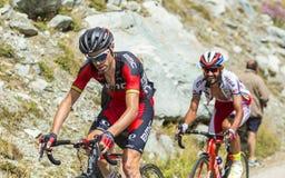 Велосипедист Самюэль Sanchez - Тур-де-Франс 2015 Стоковые Фотографии RF