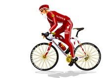 Велосипедист Санты Стоковое Фото