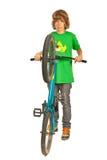 Велосипедист фристайла предназначенный для подростков Стоковое Фото