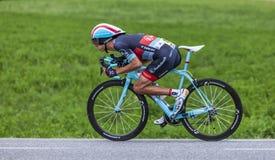 Велосипедист Andy Schleck Стоковое Изображение