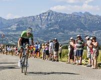 Велосипедист Bauke Mollema стоковые фотографии rf