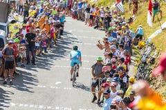 Велосипедист Dmitriy Gruzdev на Col du Glandon - Тур-де-Франс стоковые изображения rf