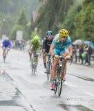 Велосипедист Dmitriy Gruzdev - Тур-де-Франс 2014 Стоковое Изображение