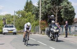 Велосипедист Edvald Boasson Хаген - Критерий du Dauphine 2017 Стоковые Изображения