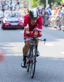 Велосипедист Julien Simon - Тур-де-Франс 2015 Стоковое Фото