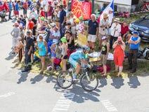 Велосипедист Lieuwe Westra на Col du Glandon - Тур-де-Франс 20 стоковые фото