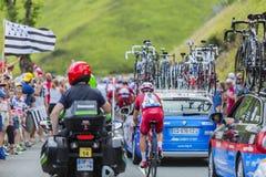 Велосипедист Luca Paolini на Col de Peyresourde - Тур-де-Франс Стоковые Изображения