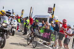 Велосипедист Nairo Александр Quintana Rojas на Mont Ventoux Стоковое фото RF