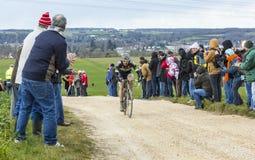Велосипедист Pierre-Luc Perichon - Париж-славное 2016 Стоковые Фотографии RF