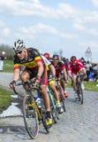 Велосипедист Preben Van Hecke - Париж Roubaix 2016 Стоковые Изображения