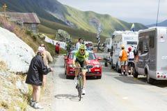 Велосипедист Ramunas Navardauskas - путешествуйте de Франция 2015 Стоковое фото RF
